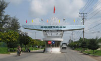 Entrance of Tra Noc Industrial Zone