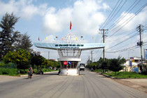 Photo: Entrance of Tra Noc Industrial Zone