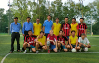 Group photo of football teams