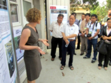 Photo: Ms. Helen Feldhaus, Technical University of Braunschweig, introduced Sub-project 6 on Sludge Management